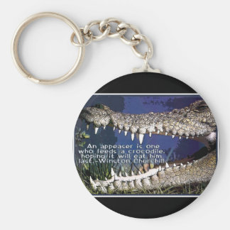 CROCODILE QUOTE - WINSTON CHURCHILL APPEASER KEY RING