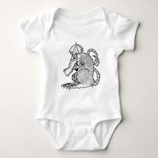 Crocodile rat baby bodysuit