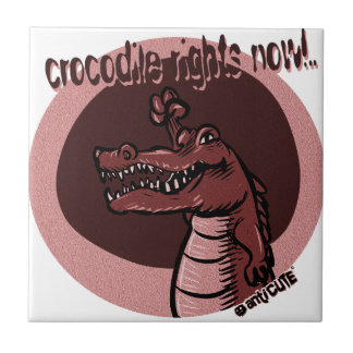 crocodile rights now red small square tile