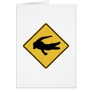 Crocodile Sign Greeting Card