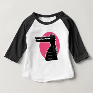 crocodile silhouette cartoon style illustration baby T-Shirt