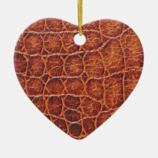 Crocodile Skin Ceramic Heart Decoration