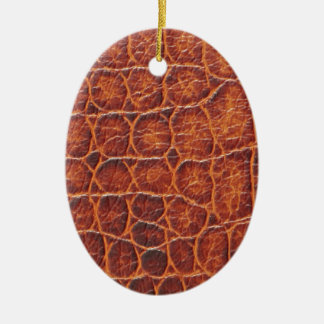 Crocodile Skin Ceramic Oval Decoration