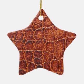 Crocodile Skin Ceramic Star Decoration