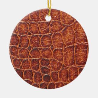 Crocodile Skin Round Ceramic Decoration