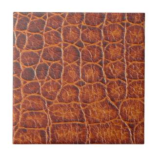 Crocodile Skin Print Small Square Tile