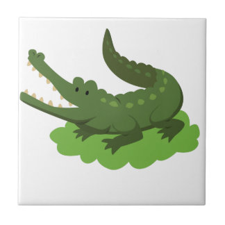 crocodile small square tile