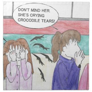 Crocodile Tears Napkin