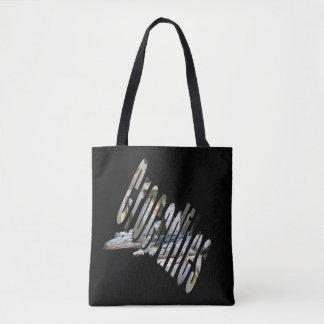 Crocodiles And Logo Full Print Shopping Bag. Tote Bag