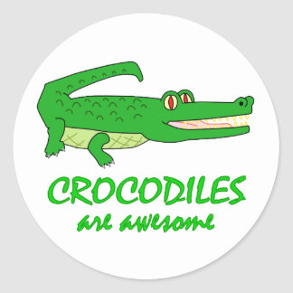 Crocodiles are Awesome Classic Round Sticker