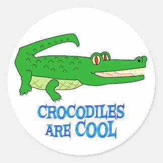 Crocodiles are COOL Classic Round Sticker