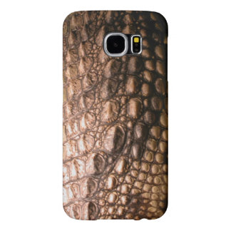 Crocodilian Photo-sampled Reptile Crocodile Skin Samsung Galaxy S6 Cases