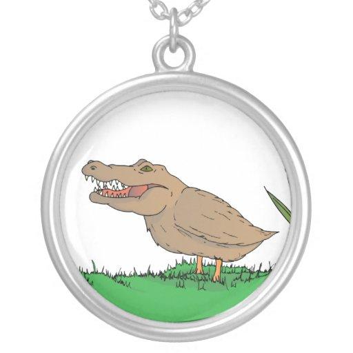 Crocoduck Necklace in colour!