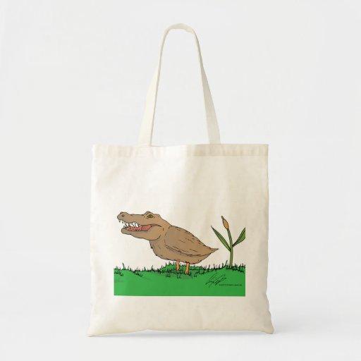 Crocoduck tote bag in colour!