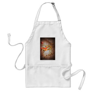 crocosmia flowers standard apron