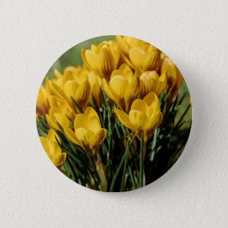 crocus 6 cm round badge