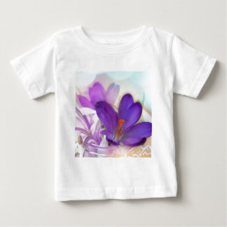Crocus and Lily of the Valley Floral Arrangement . Baby T-Shirt