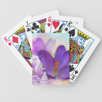 Crocus and Lily of the Valley Floral Arrangement . Bicycle Playing Cards