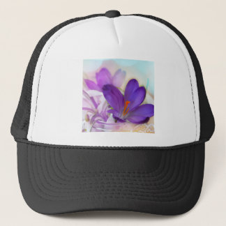 Crocus and Lily of the Valley Floral Arrangement . Trucker Hat