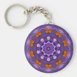 Crocus Basic Round Button Key Ring
