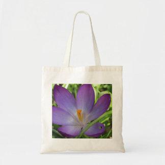 Crocus canvas bag