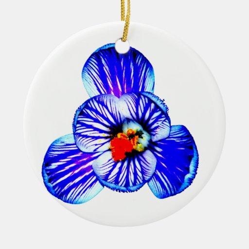 Crocus Flower Christmas Tree Ornament