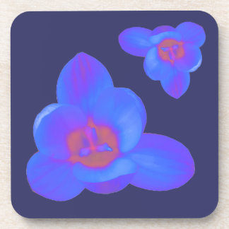 Crocus Flower Hot and Cold Cork Coaster