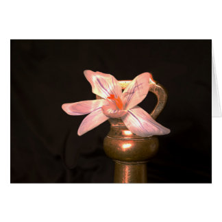 Crocus Flowers and old Brass Weights-Greeting Card