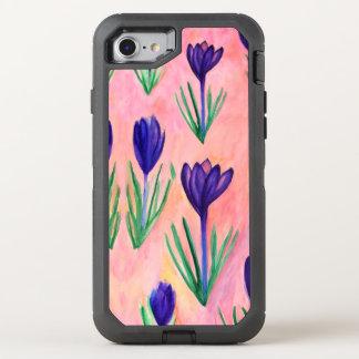 Crocus Flowers Watercolor Art Otterbox Case