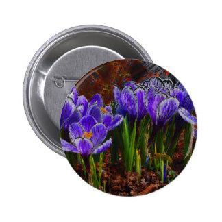 Crocus Garden Pinback Button