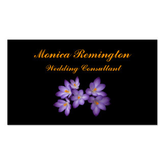 Crocus Wedding Consultant Pack Of Standard Business Cards