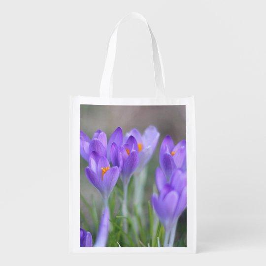Crocuses Reusable Grocery Bag