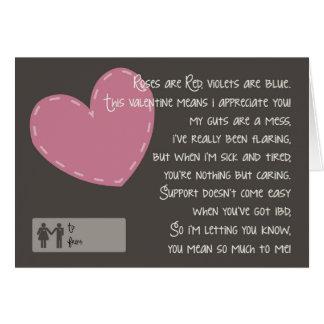 Crohn's and Colitis Valentine - Caregivers Card