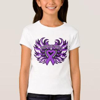 Crohn's Disease Awareness Heart Wings.png Tshirt