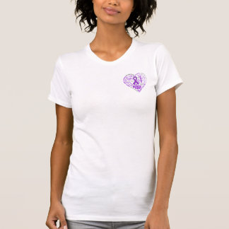 Crohn's Disease Awareness Heart Words T-shirts