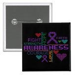 Crohns Disease Colourful Slogans Badge