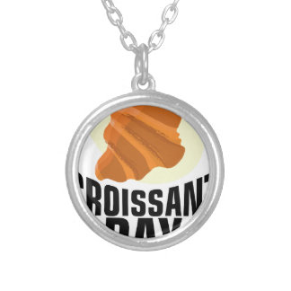Croissant Day - Appreciation Day Silver Plated Necklace