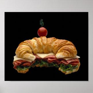 Croissant Sandwich Poster