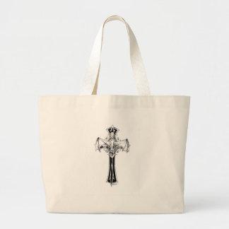 Croix gothique large tote bag