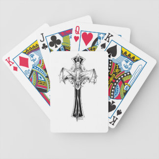 Croix gothique bicycle poker cards