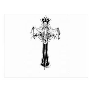 Croix gothique postcard