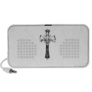 Croix gothique notebook speaker
