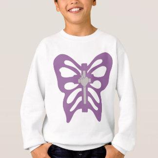 Croix + Papillon violet Sweatshirt