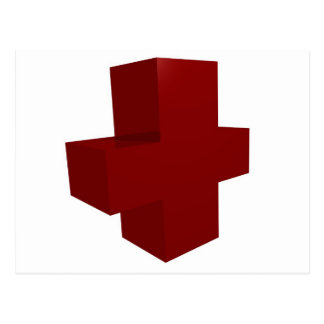 croix rouge postcard