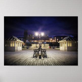 Cromer pier pavilion at night - Norfolk UK Poster