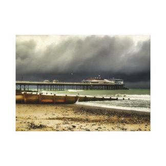 Cromer Pier Storm Canvas Print