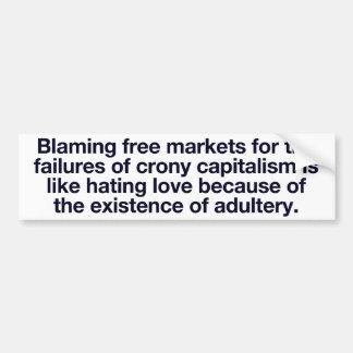 Crony Capitalism Bumper Sticker