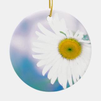 Crooked Daisy Ceramic Ornament