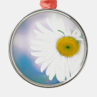 Crooked Daisy Metal Ornament