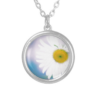 Crooked Daisy Silver Plated Necklace